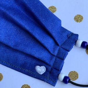 Accessories - Face Mask Shimmery Blue Face Covering 100% cotton